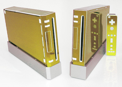 Gold Mirror Skin for Nintendo Wii