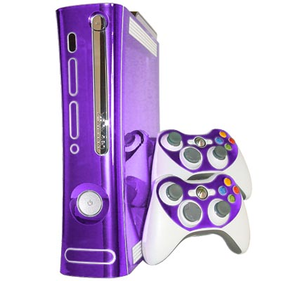 Purple Chrome Xbox 360 Skin