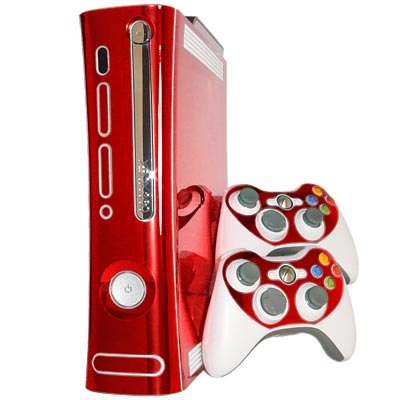 Red Chrome Xbox 360 Skin